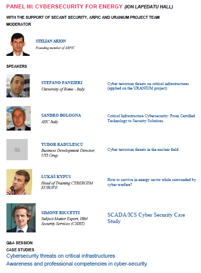 Panel III - Cybersecurity Day - 2015 - Bucharest