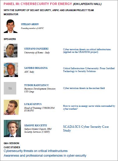 Panel III - Cybersecurity Day - 2015 - Bucharest